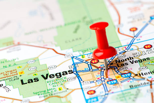 Pushpin In Map Las Vegas Nv Pictures Images And Stock Photos IStock - Las vegas us map