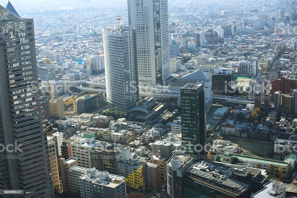 capital city of Japan view with Roppongi and Shinjuku districts. stock photo