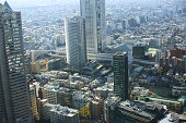 capital city of Japan view with Roppongi and Shinjuku districts.
