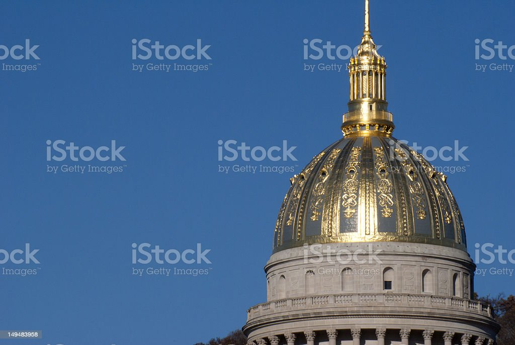 Capital Dome of West Virginia in Charleston stock photo
