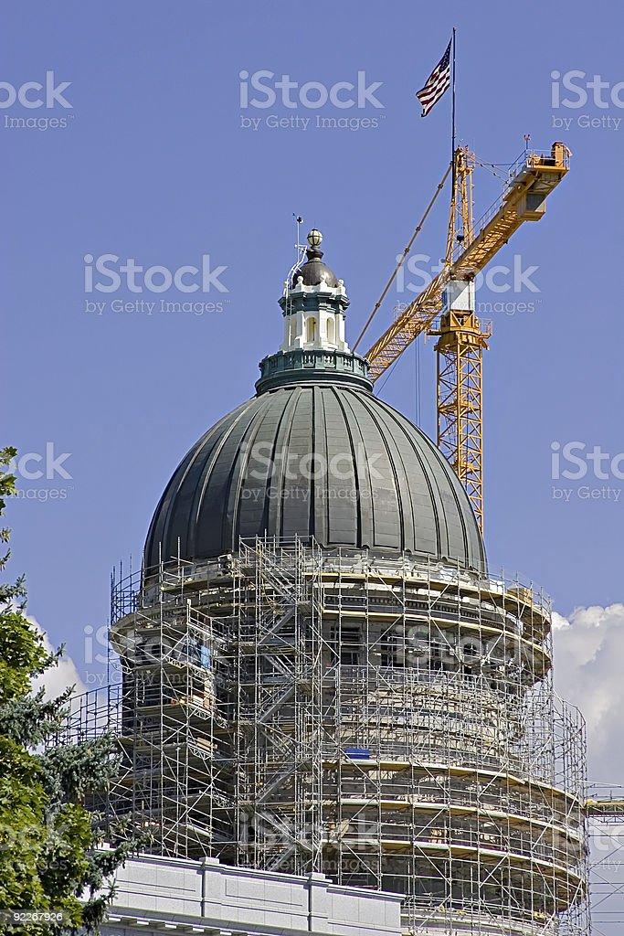 Capital Dome Restoration. royalty-free stock photo