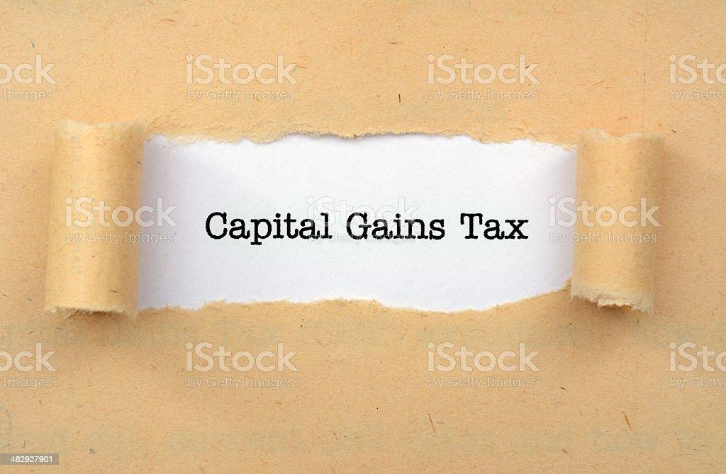 Capital gain tax stock photo