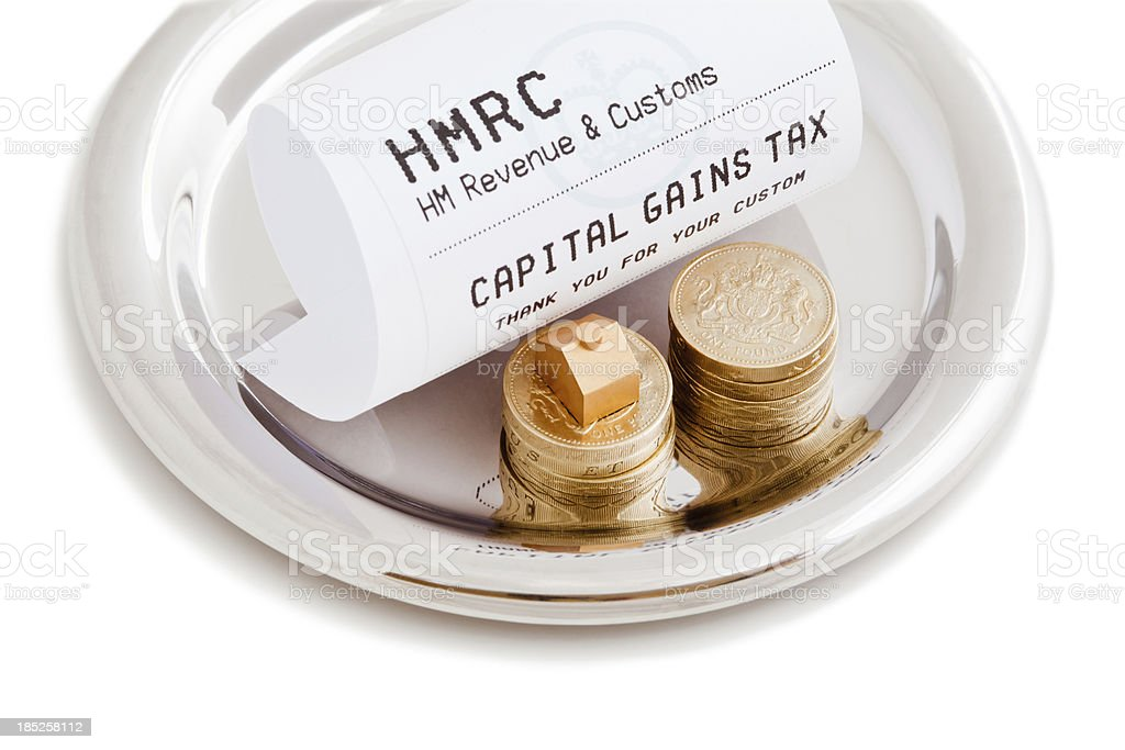 Capital Gains Tax royalty-free stock photo
