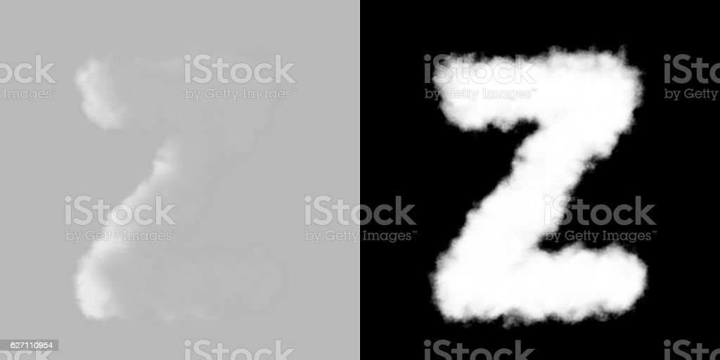 Capital Letter A-Z with luma matte stock photo