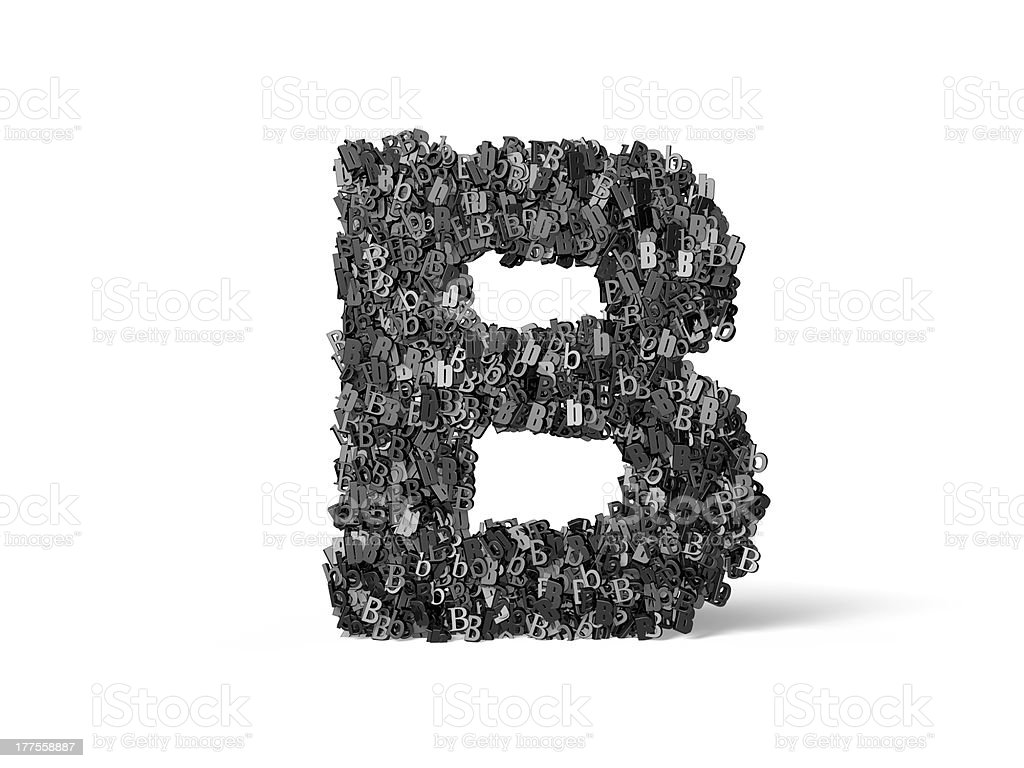 Capital Letter B - Built from B's royalty-free stock photo
