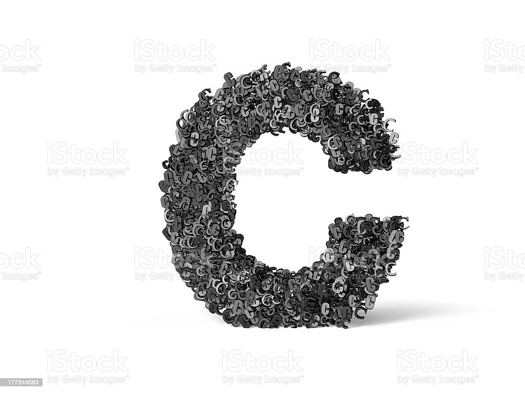 Capital Letter C - Built from C's royalty-free stock photo