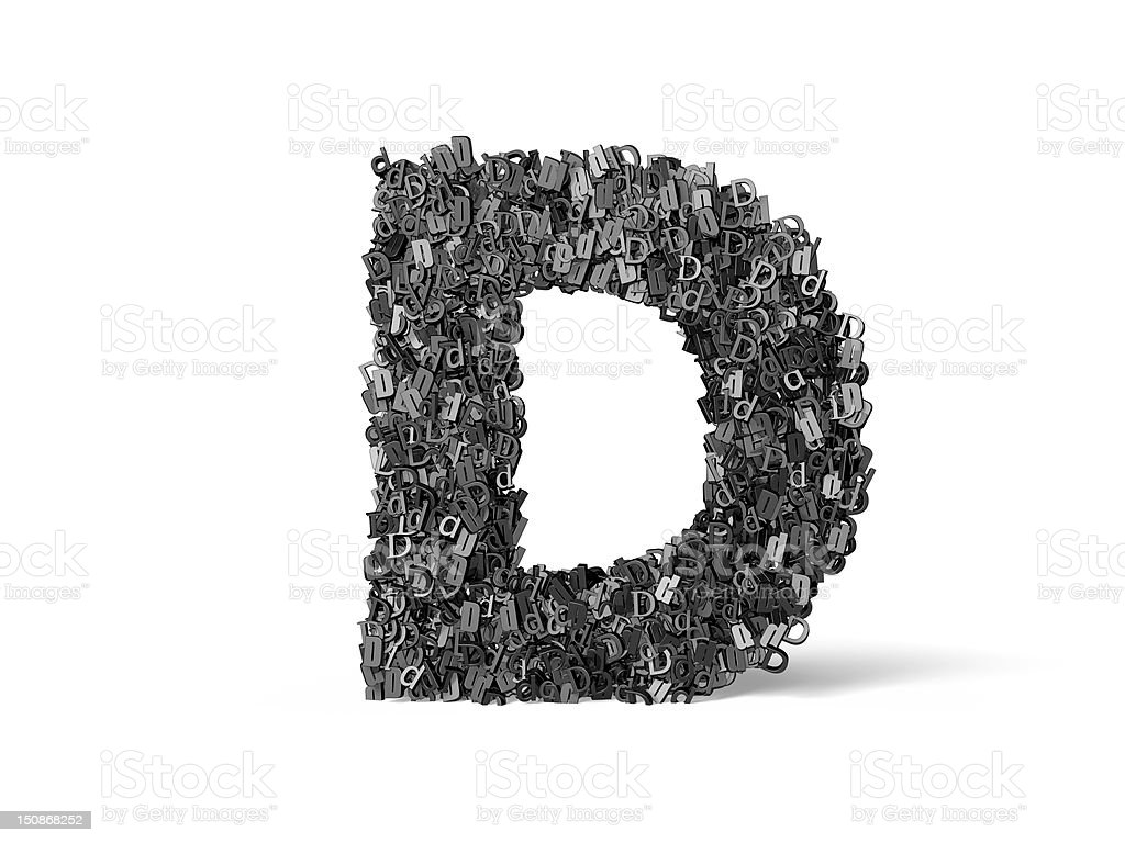 Capital Letter D - Built from D's royalty-free stock photo