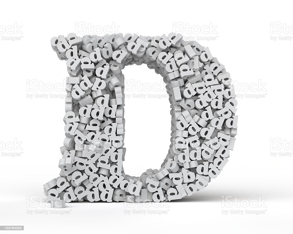 Capital letter D royalty-free stock photo