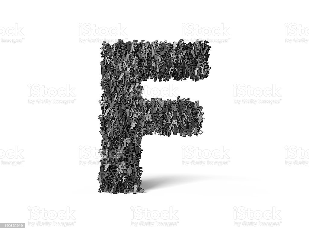 Capital Letter F - Built from F's royalty-free stock photo