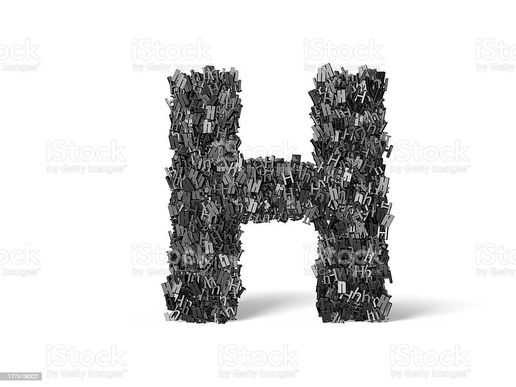 Capital Letter H - Built from H's stock photo