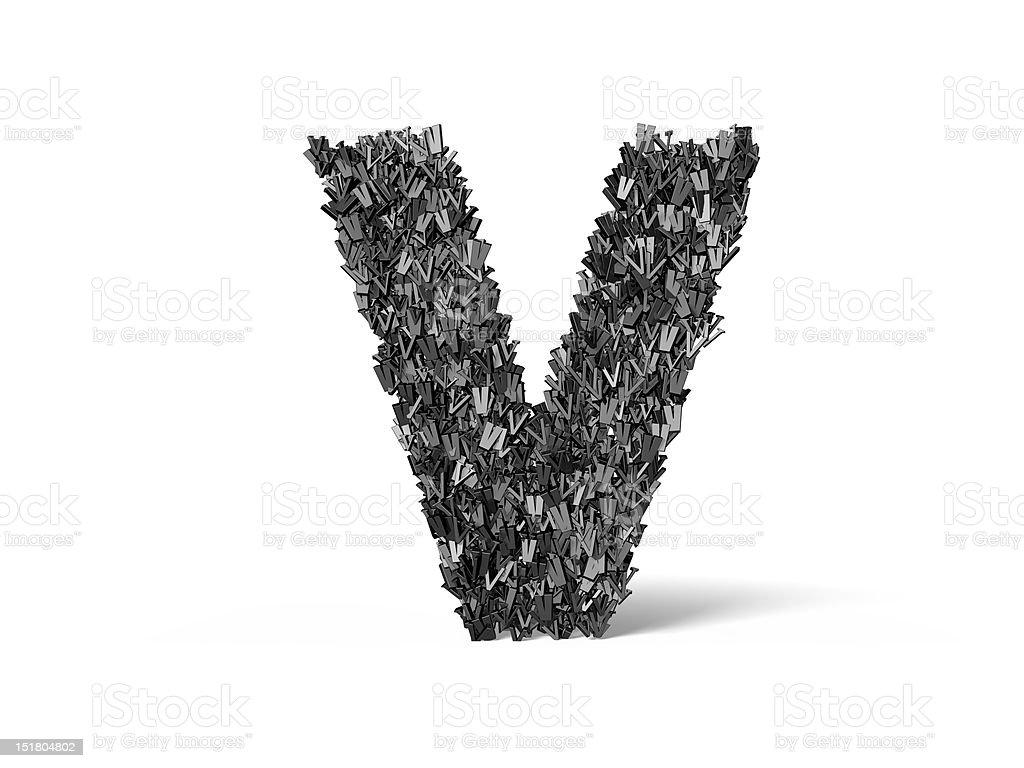 Capital Letter V - Built from V's royalty-free stock photo