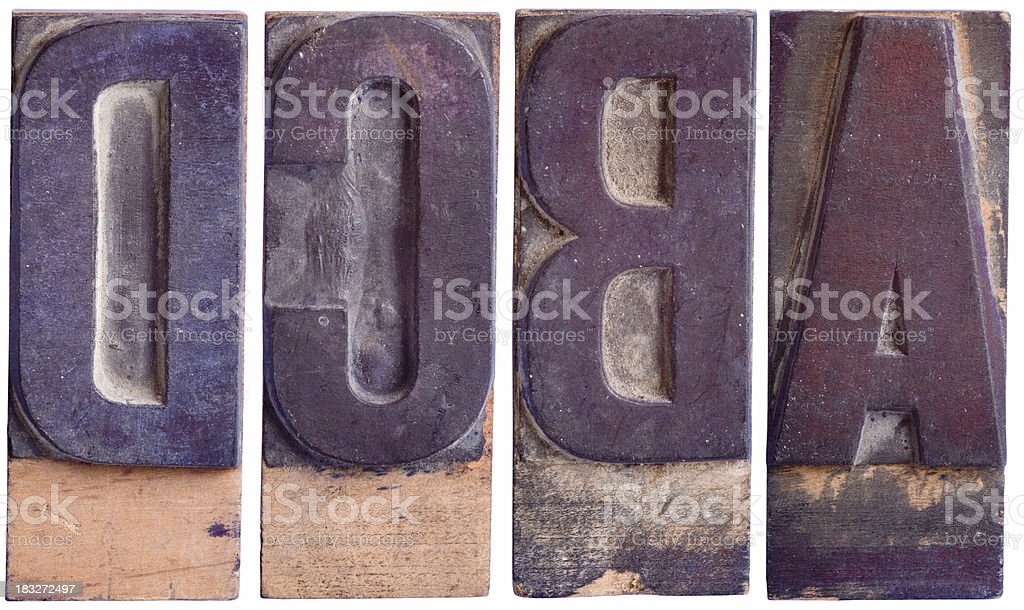 ABCD - Capital Letters,  Part 1 royalty-free stock photo