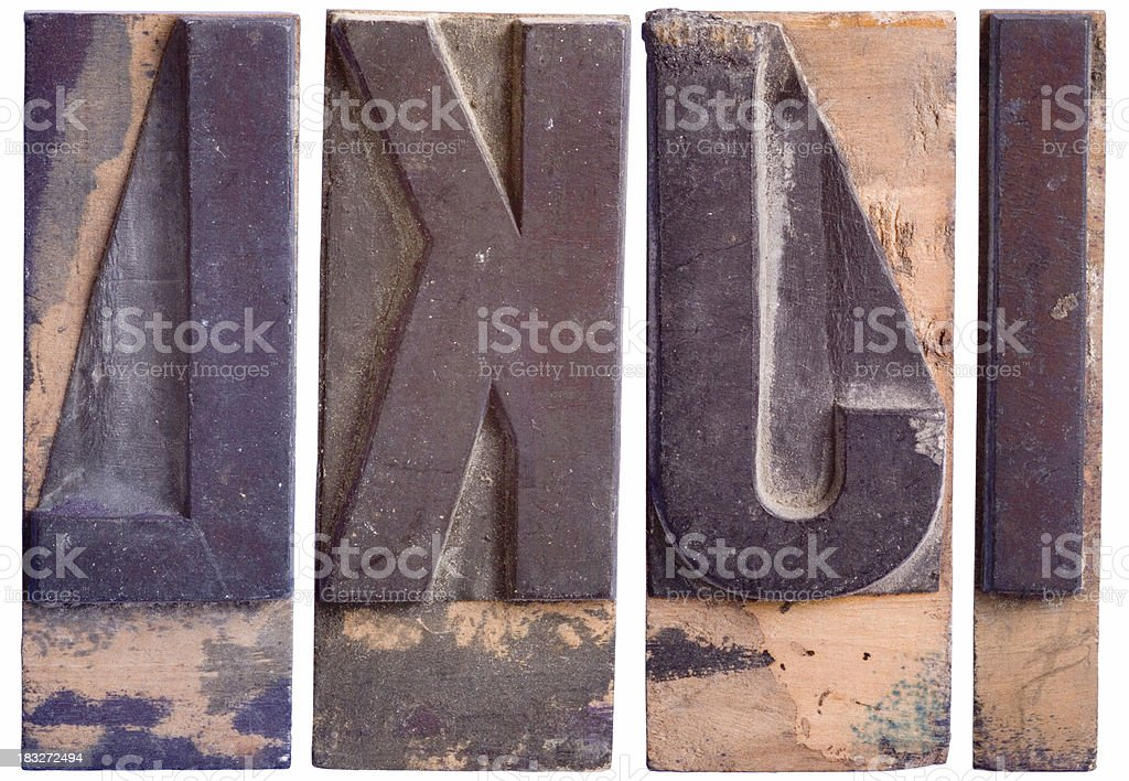IJKL - Capital Letters, Part 3 royalty-free stock photo
