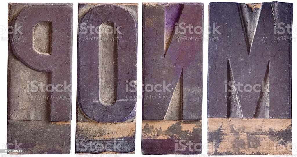 MNOP - Capital Letters, Part 4 royalty-free stock photo