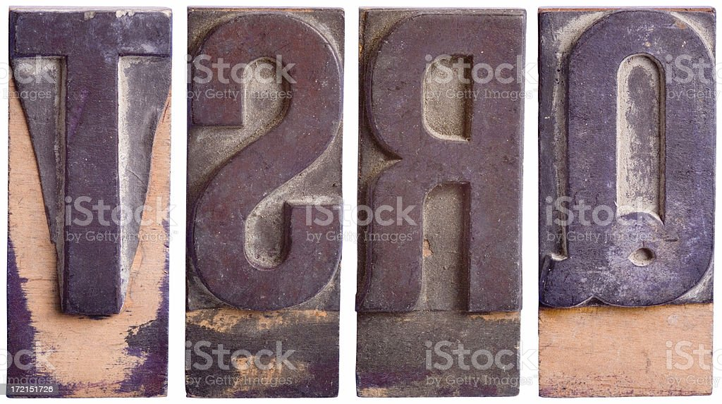 QRST - Capital Letters, Part 5 royalty-free stock photo