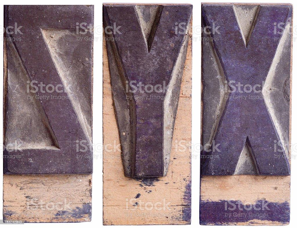 YXZ - Capital Letters,  Part 7 royalty-free stock photo