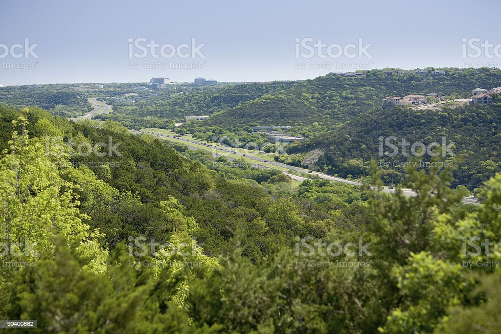 Capital of Texas Highway in Austin stock photo