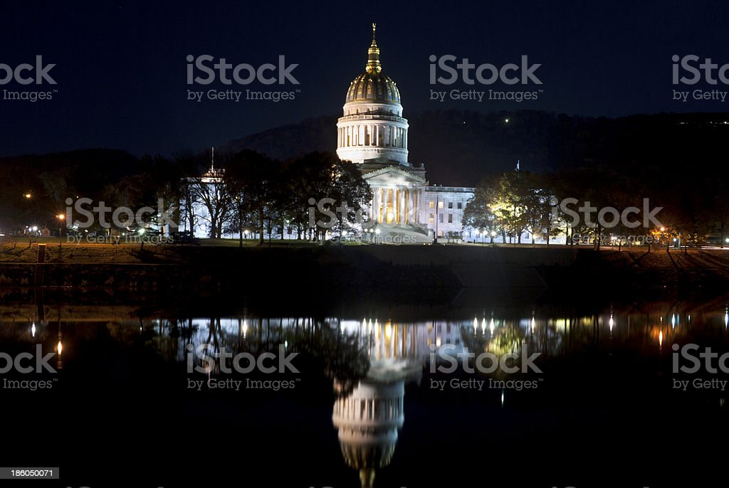 Capital of West Virginia in Charleston on the Kanawha River stock photo