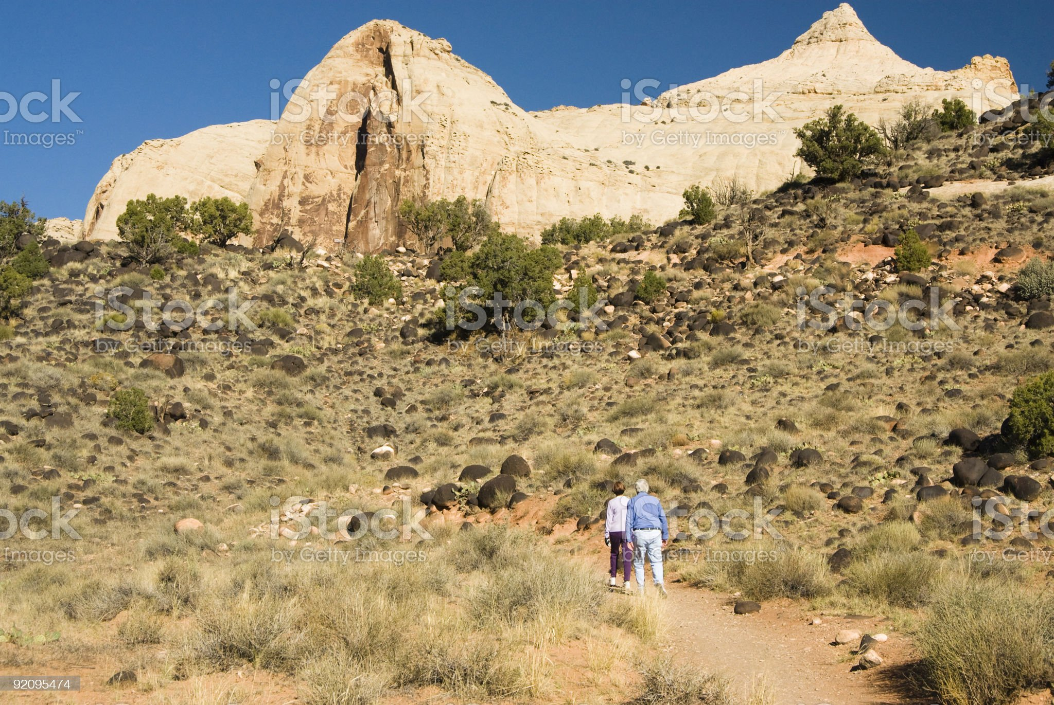 Capital Reef hikers 3 royalty-free stock photo