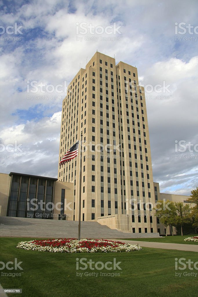 Capital Tower (North Dakota) stock photo