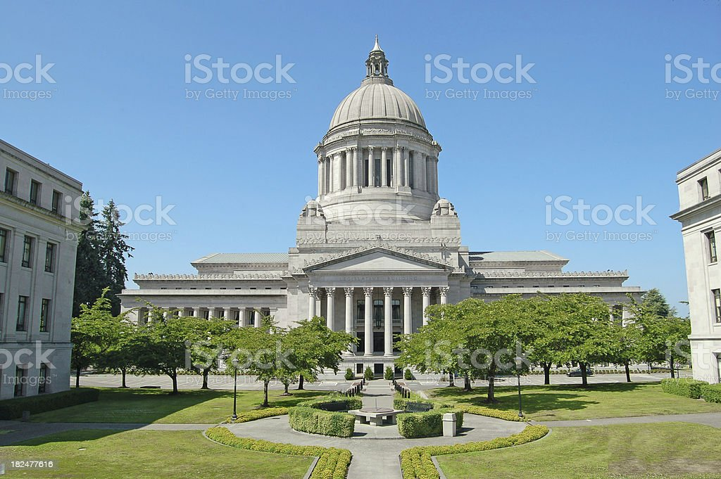 Capitol and Mall in Olympia royalty-free stock photo