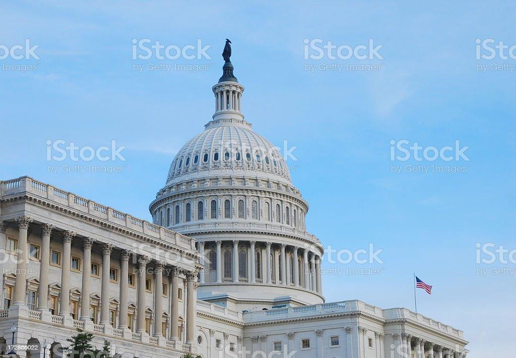 U.S. Capitol at dusk stock photo