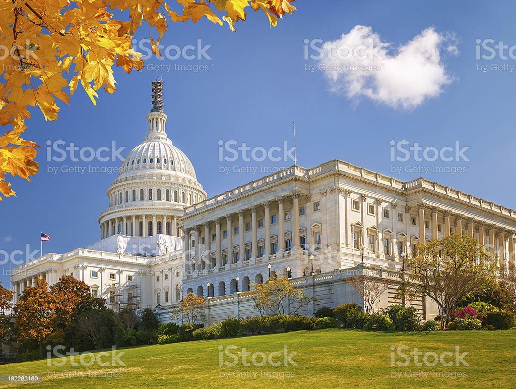 US Capitol at sunny day stock photo
