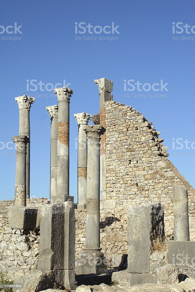 Capitol at Volubilis royalty-free stock photo
