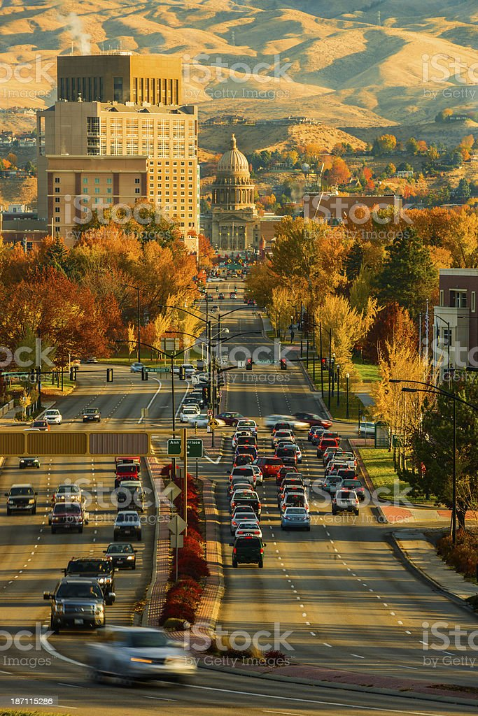 Capitol Blvd, Boise, Idaho stock photo