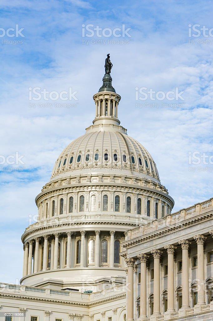 US Capitol Buiding Washington DC Dome Detail Closeup Alone Dayli stock photo