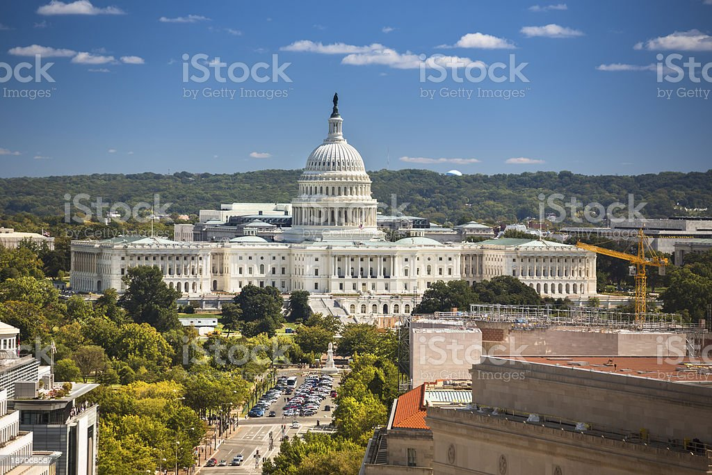 Capitol Building aerial view royalty-free stock photo