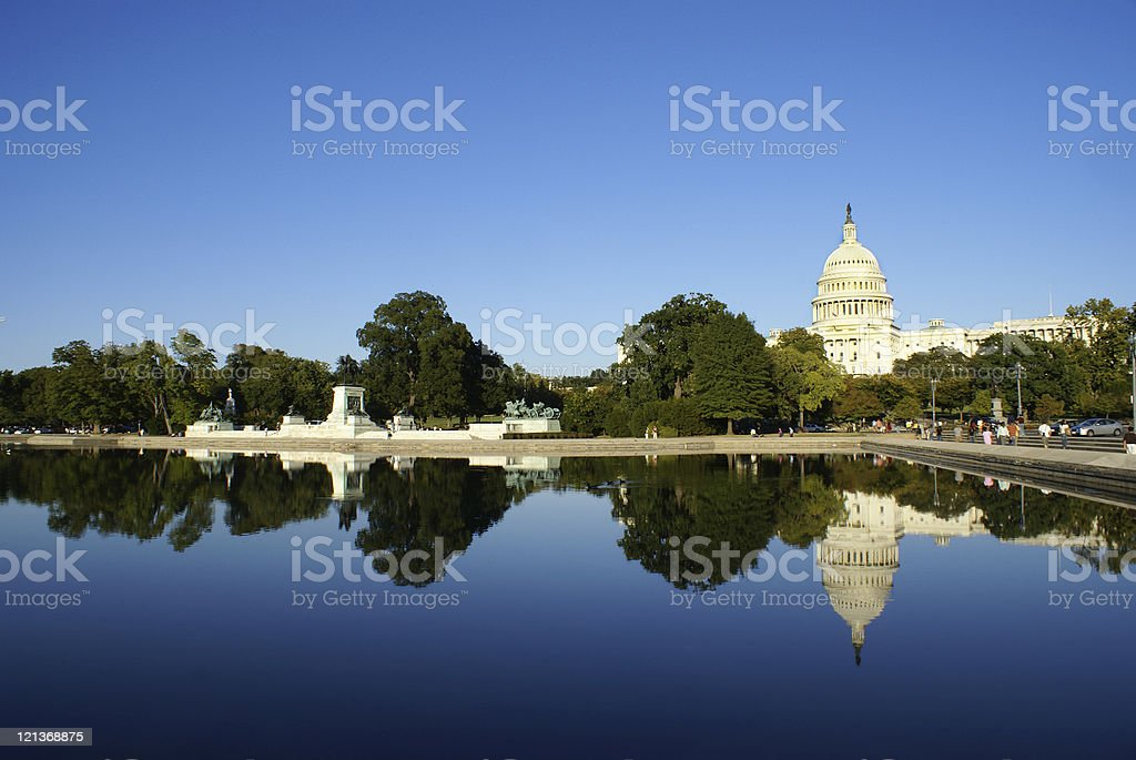 Capitol Building and Reflection royalty-free stock photo