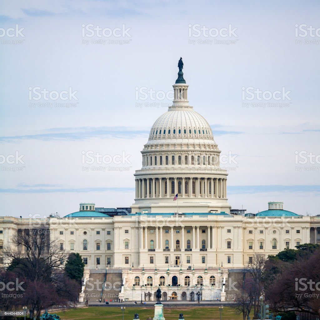 Capitol Building before Sunset, Washington DC stock photo