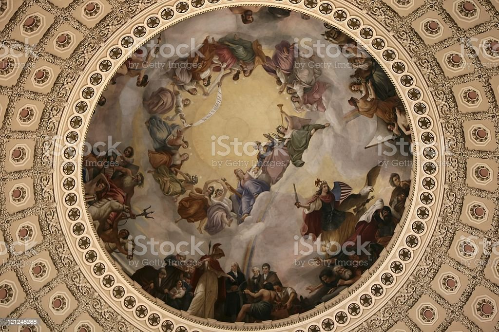 US Capitol Building Ceiling royalty-free stock photo