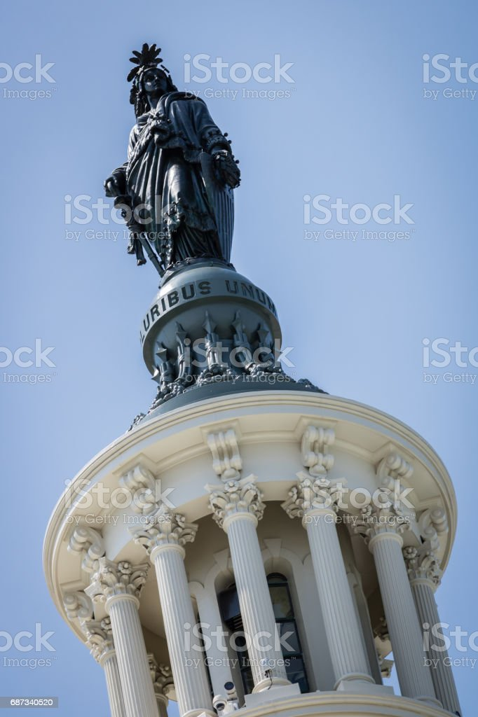 US Capitol Building Dome in Washington DC stock photo