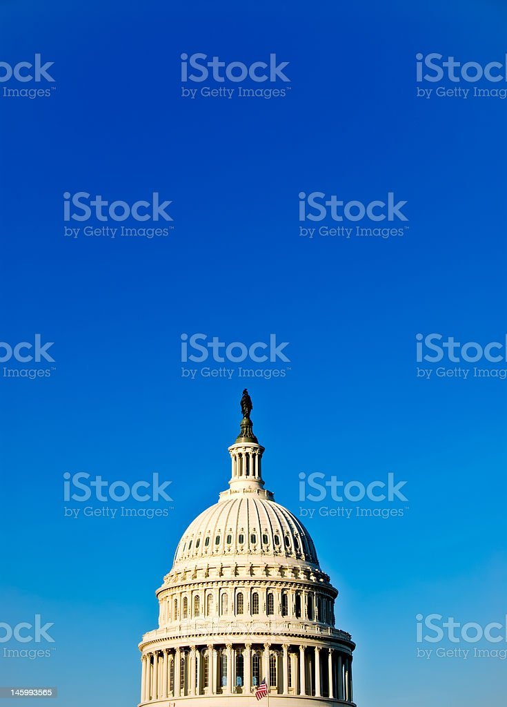 US Capitol Building Dome of Congress With Blue Clear Sky royalty-free stock photo