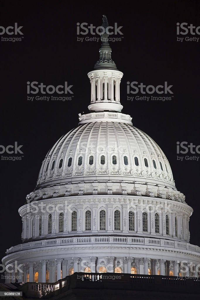 Capitol Building Dome royalty-free stock photo