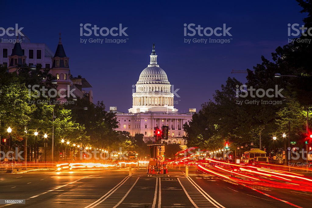 Capitol Building from Pennsylvania Avenue royalty-free stock photo