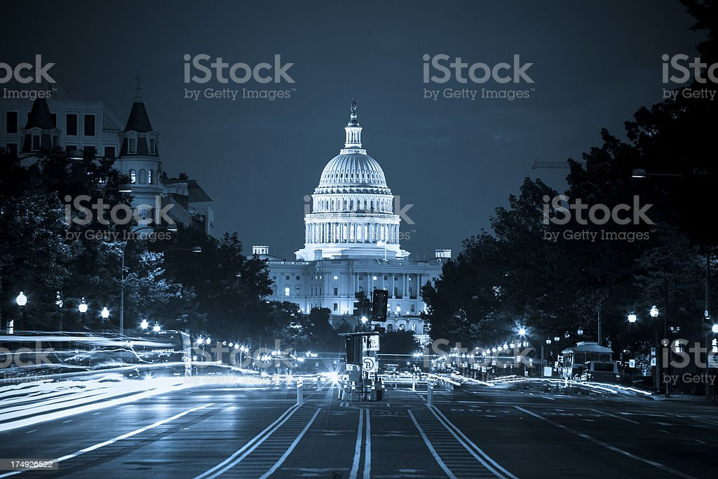 Capitol Building from Pennsylvania Avenue stock photo