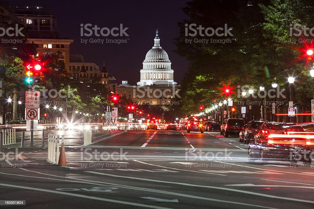 Capitol Building from Pennsylvania Aveue stock photo