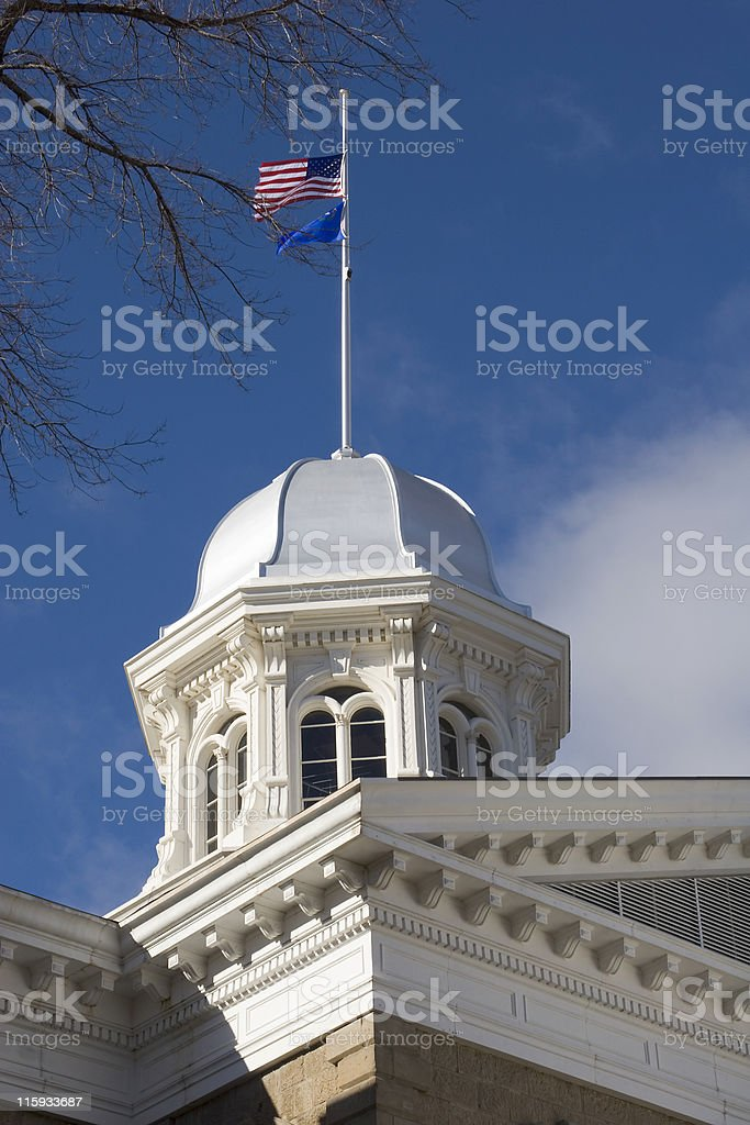 Capitol building in Carson City, NV stock photo