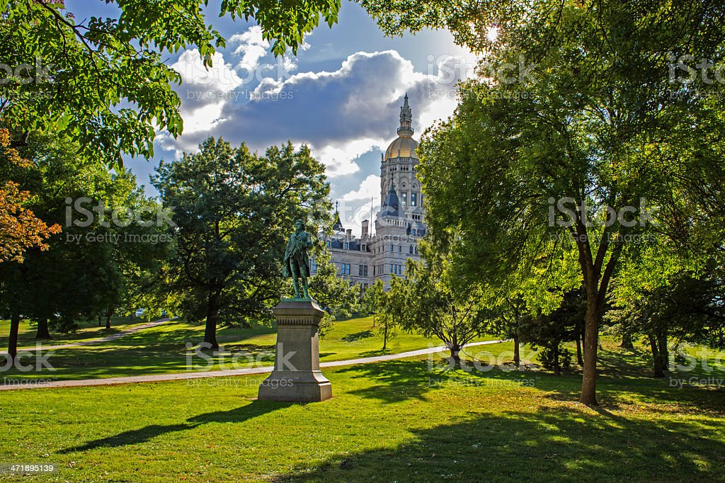 Capitol Building in Hartford, CT stock photo