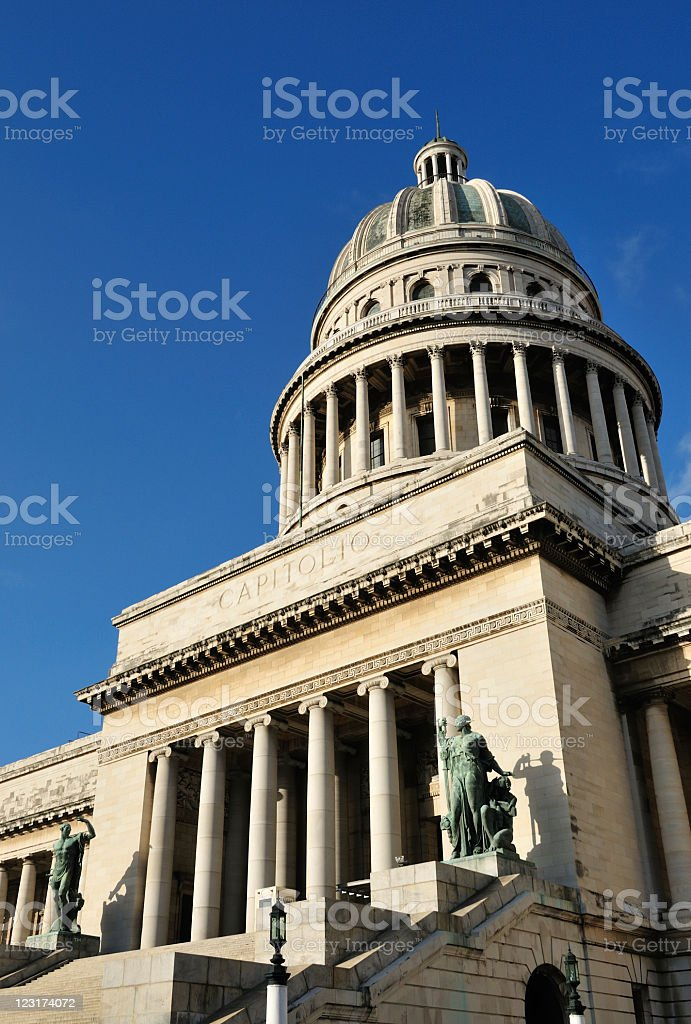Capitol Building in Havana Cuba royalty-free stock photo