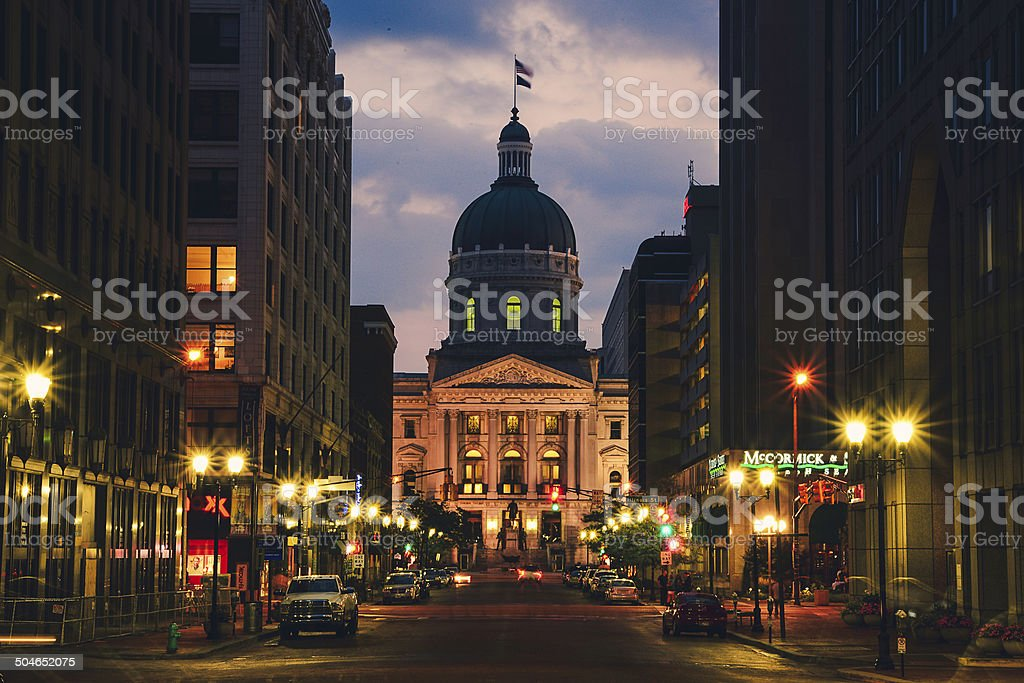 Capitol building in Indianapolis stock photo