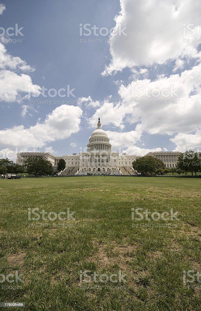 US Capitol Building in Washington DC Blue Sky stock photo