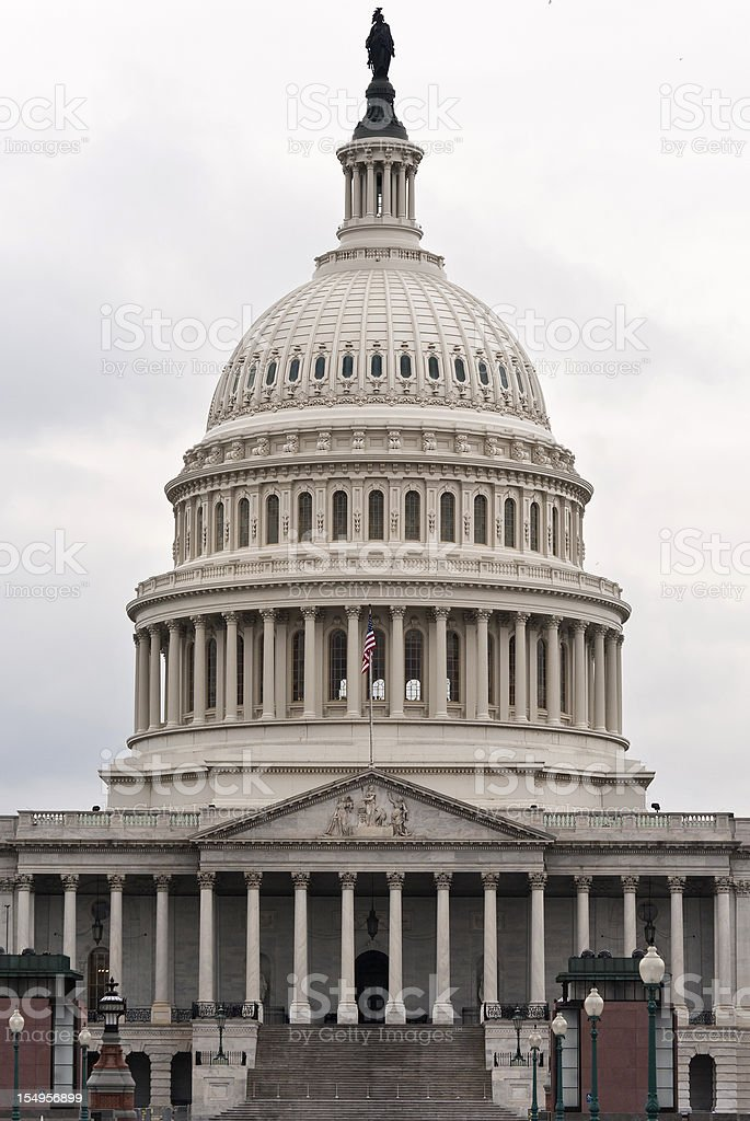 Capitol Building in Washington DC (front view) royalty-free stock photo