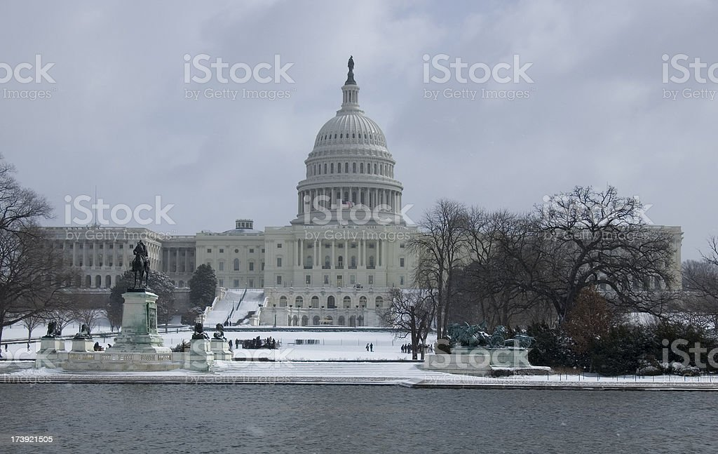 Capitol building in washington dc royalty-free stock photo