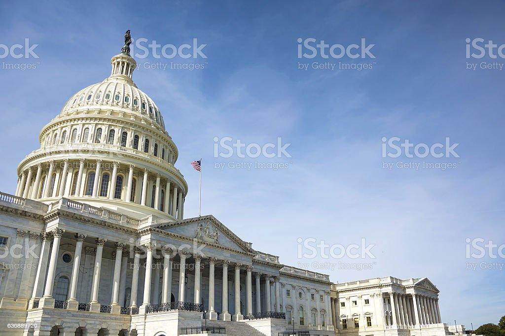 Capitol building in Washington stock photo