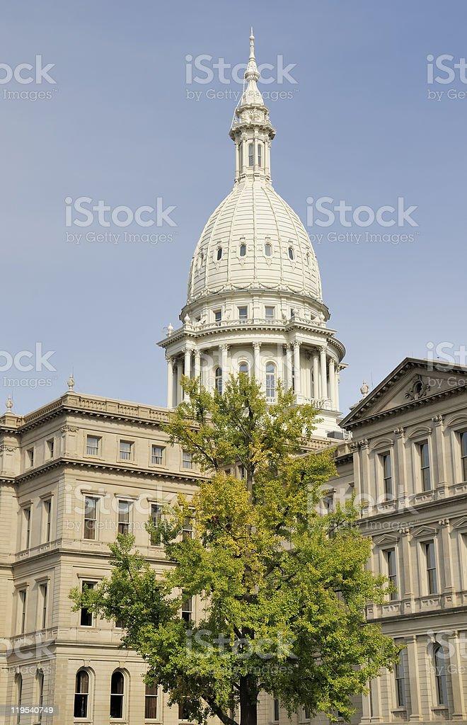 Capitol Building, Lansing Michigan stock photo