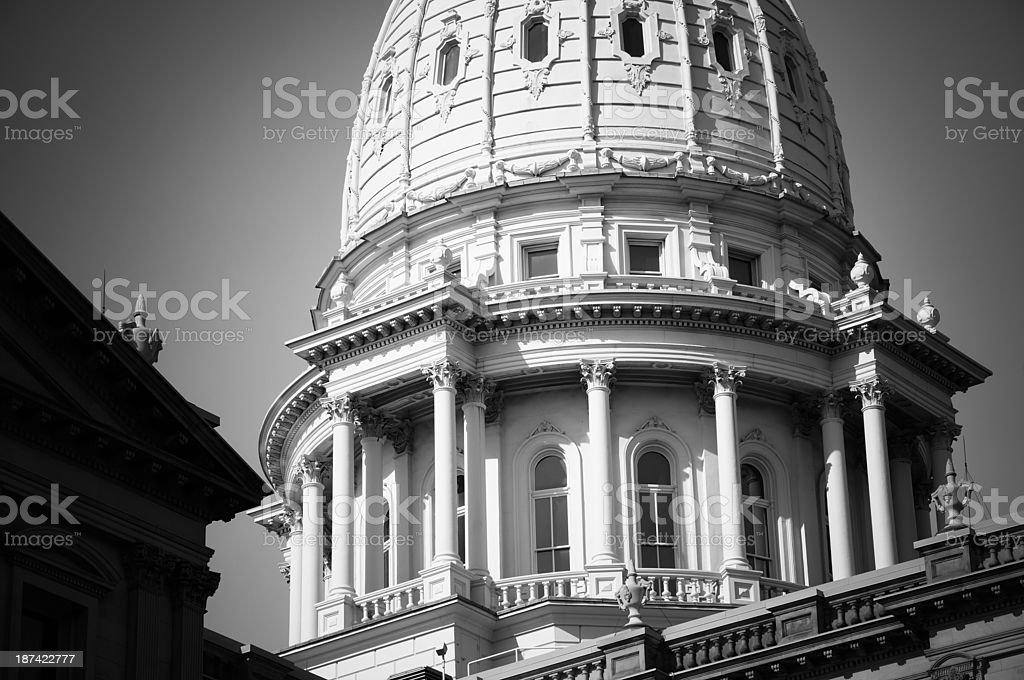 Capitol Building, Lansing royalty-free stock photo